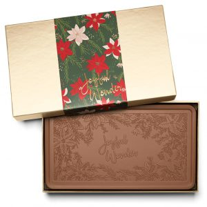 Holiday Crimson Poinsettia Christmas Chocolate Gift