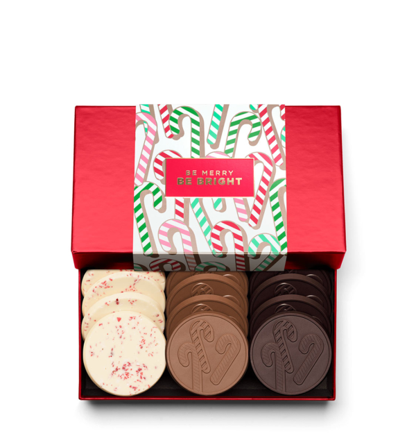 Holiday Candy Cane Christmas Chocolate Gift 12-Piece