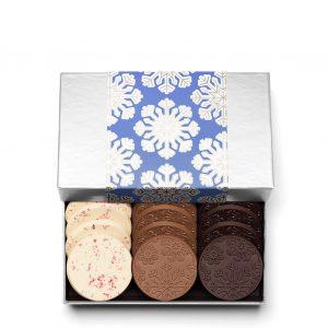 Holiday Snowflake Christmas Chocolate Gift 12-Piece