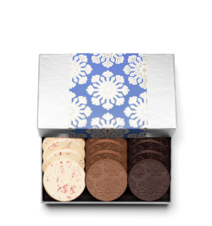 Holiday Snowflake Christmas Chocolate Gift 12-Piece