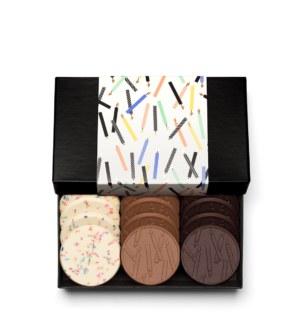 Happy Birthday 12-Piece Chocolate Gift Cookie Set