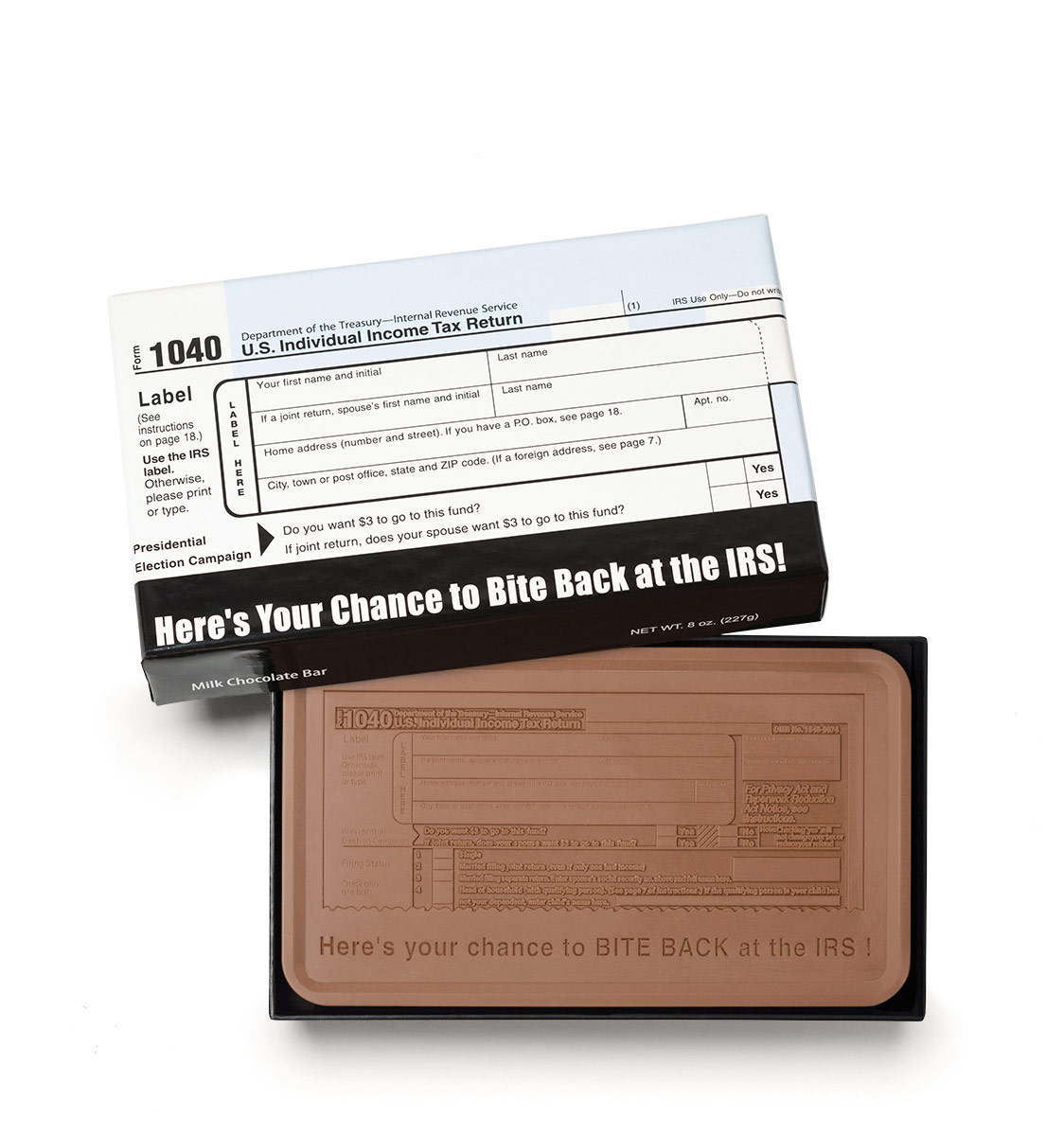 IRS 1040 Deluxe Milk Chocolate Bars Promo Items   Totally Chocolate