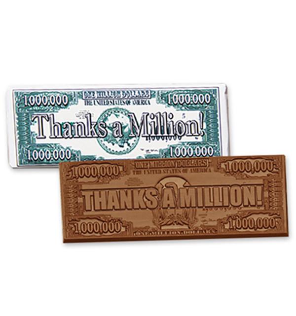 Thanks a Million Milk Chocolate Wrapper Candy Bar