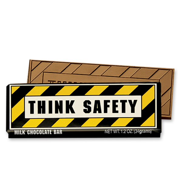 Think Safety Milk Chocolate Wrapper Bar Gift Giveaway
