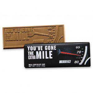Extra Mile Milk Chocolate Wrapper Bar Employee Appreciation Gift