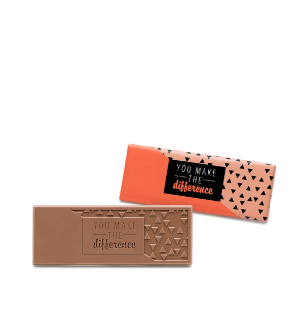 You Make the Difference Milk Chocolate Wrapper Bar Employee Gift