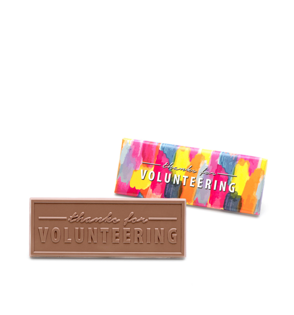 Volunteer Milk Chocolate Wrapper Bar Thank You Gift