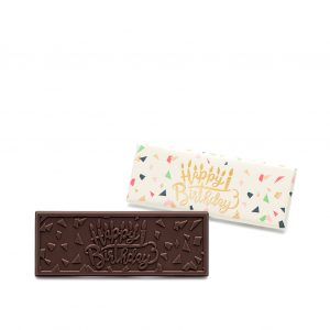 Happy Birthday Dark Chocolate Wrapper Bar Wholesale