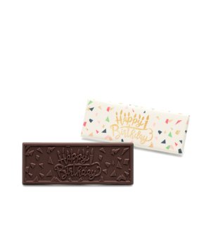 Happy Birthday Dark Chocolate Wrapper Bar Wholesale