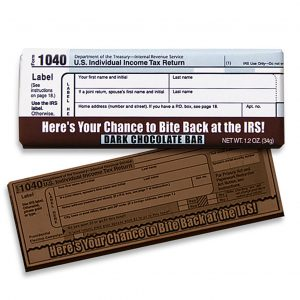 IRS Dark Chocolate Wrapper Bar Gift Giveaway