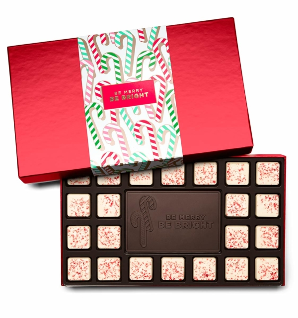 Holiday Candy Cane Christmas Chocolate Gift 23-Piece