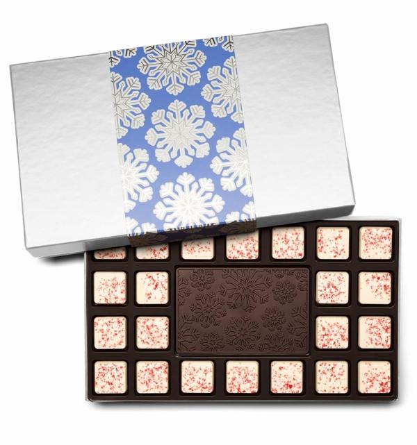 Holiday Snowflake Christmas Chocolate Gift 23-Piece
