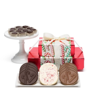 Holiday Candy Cane Caramels Cookies Christmas Chocolate Gift
