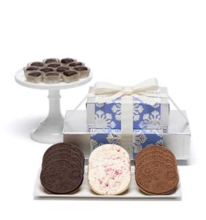 Holiday Snowflake Cookies Caramels Christmas Chocolate Gift Basket