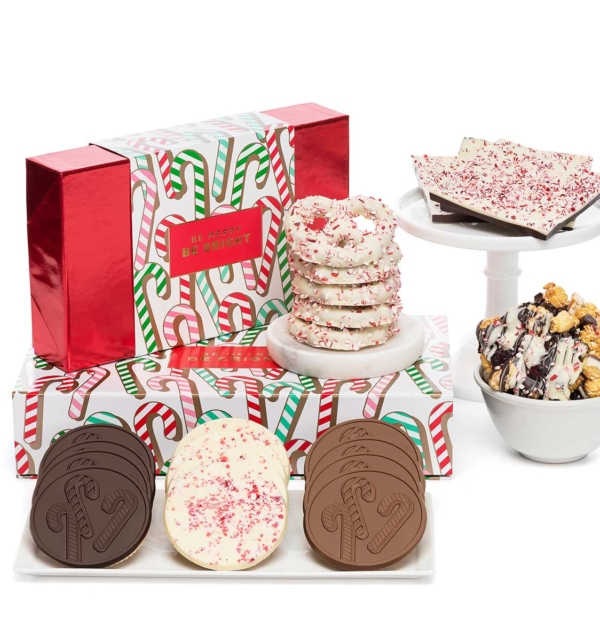 Holiday Candy Cane Peppermints Cookies Christmas Chocolate Gift