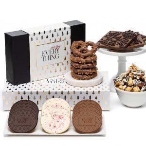 Holiday Modern Tree Cookies Bar Christmas Chocolate Gift
