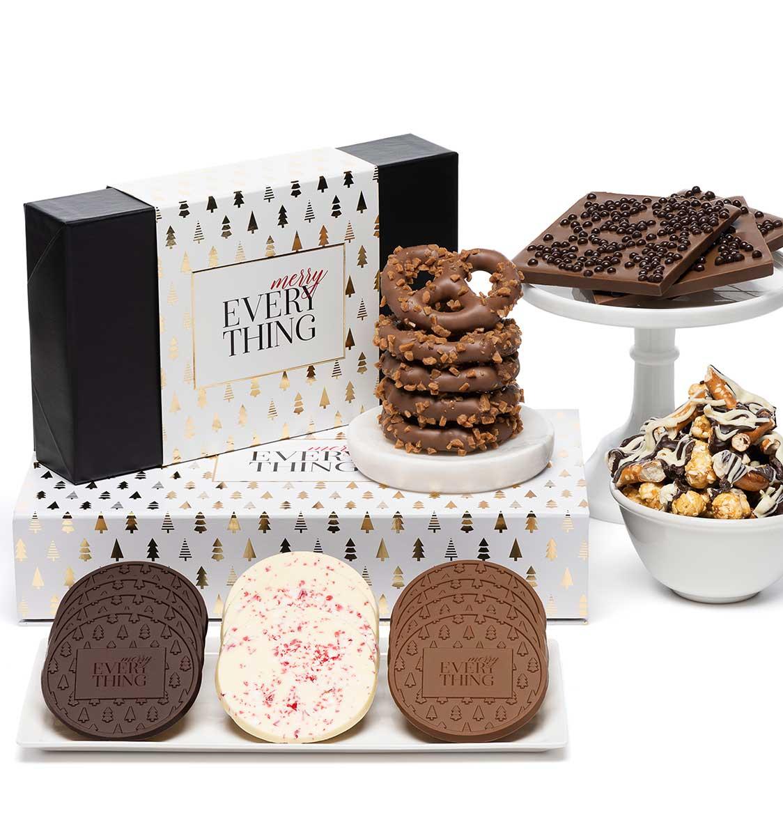 Best Sellers & Cookies Tasting Box 2-Piece Tower Holiday Modern Tree ...