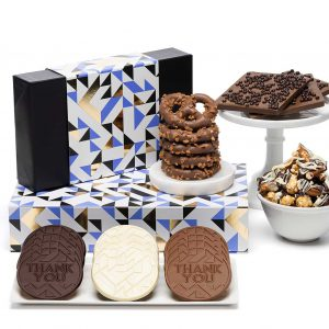 Thank You Gourmet Chocolates & Cookies Luxury Tasting Box 2-Piece Gift Basket