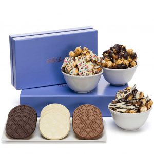 Signature Gourmet Popcorn & Cookies Luxury Tasting Box 2-Piece Gift Basket