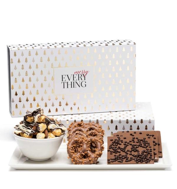 Holiday Modern Tree Luxury Christmas Chocolate Gift Box