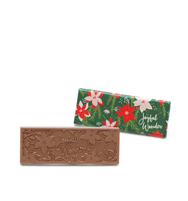 Poinsettia & Winter Village Milk Chocolate Bars Christmas Gift Wholesale