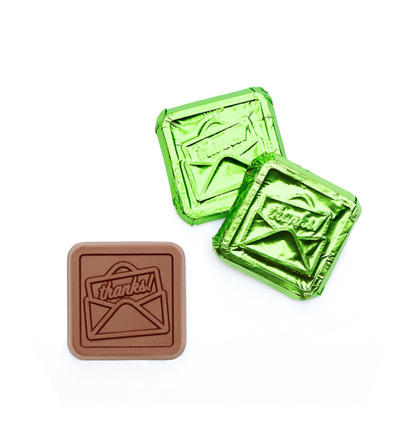 Thanks Milk Foiled Chocolate Square Wholesale