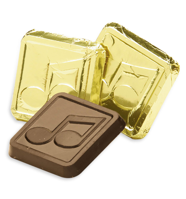 Musical Notes Dark Chocolate Gold Foiled Square