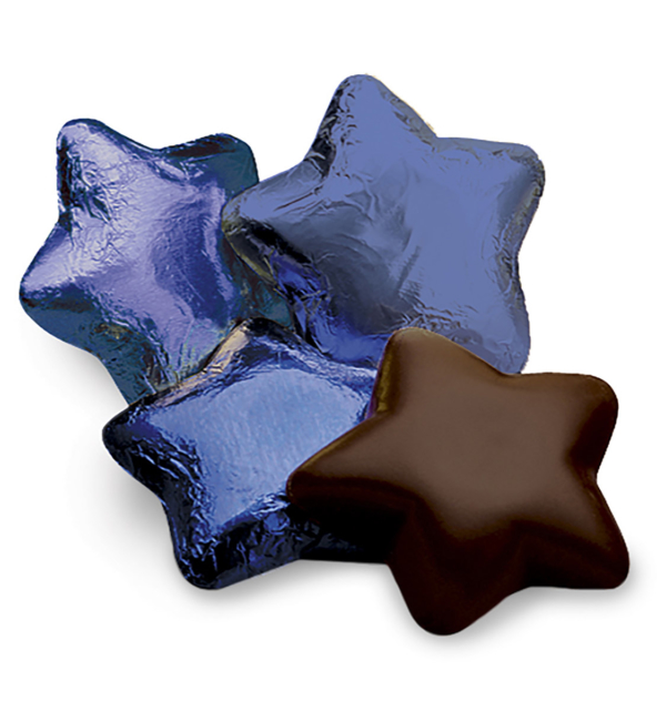 Dark Chocolate Stars in Blue Foil Gift Giveaway