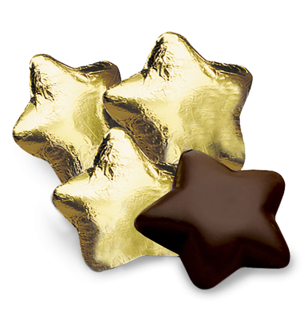 Dark Chocolate Stars in Gold Foil Gift Giveaway