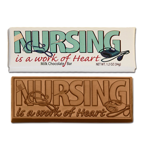 Nursing is a Work of Heart Milk Chocolate Wrapper Bar