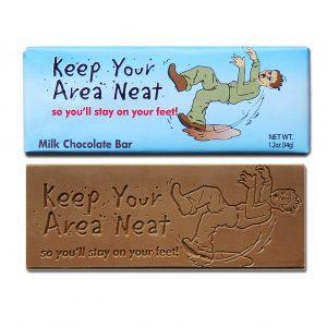 Keep Your Area Neat Milk Chocolate Wrapper Bar Bulk