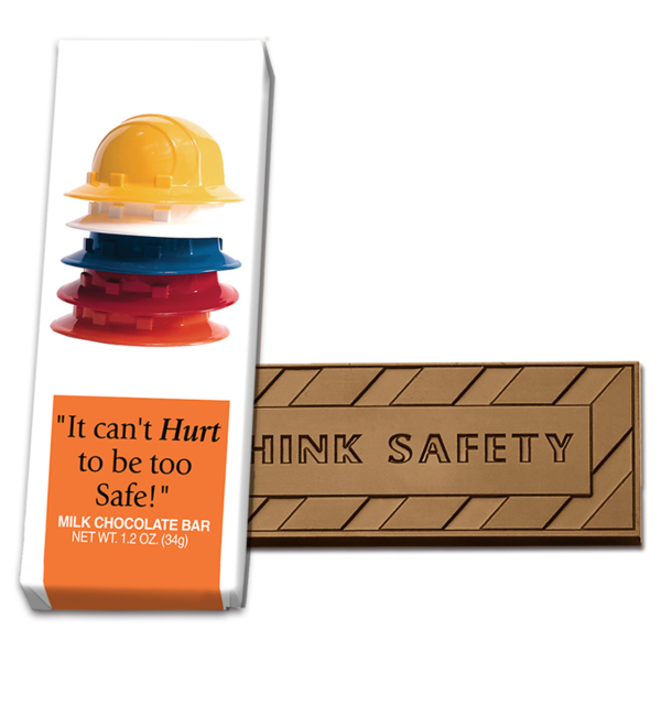 Safety It Can't Hurt Milk Chocolate Wrapper Bar Wholesale