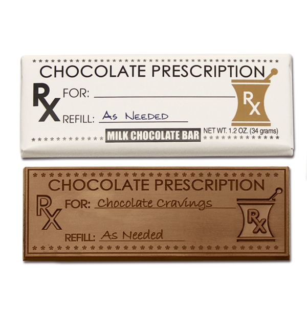 Chocolate Prescription Milk Chocolate Wrapper Bar