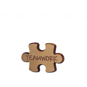 Teamwork Puzzle Piece Milk Chocolate Shape Employee Corporate Gift