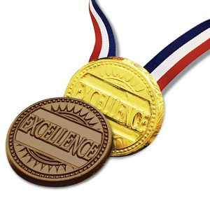 Excellence Milk Chocolate Medallion with Ribbon Wholesale