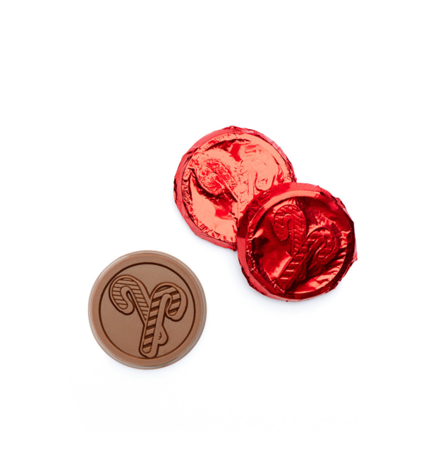 Cane Cane Milk Chocolate Red Foiled Coin Gift Giveaway