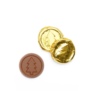 Modern Tree Milk Chocolate Gold Foiled Coin Gift Giveaway