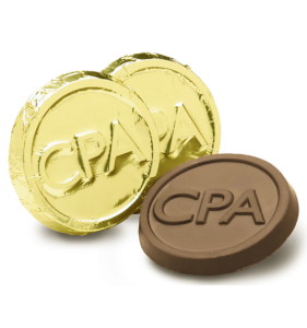 CPA Milk Chocolate Coin in Gold Foil Gift Giveaway