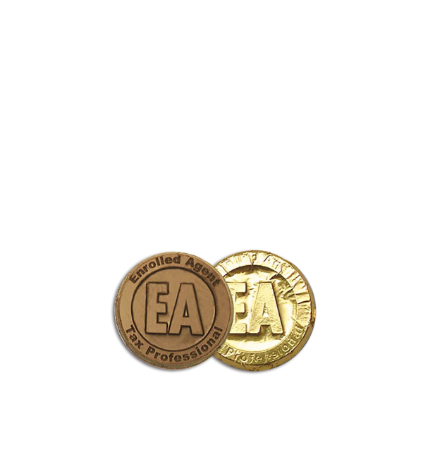 Enrolled Agent Milk Chocolate Coin in Gold Foil