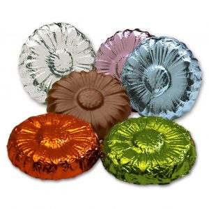 Foiled Milk Chocolate Flowers Gift Wholesale