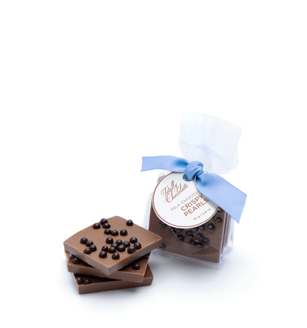 Signature Crispy Pearl Bark Chocolate Client Gift
