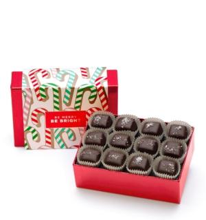 Holiday Candy Cane Christmas Chocolate Gift
