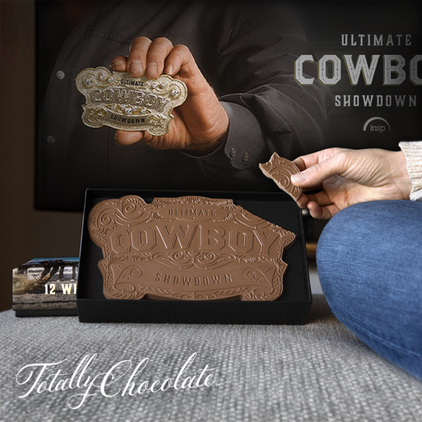 Cowboy Showdown - custom chocolate shape