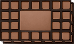Box of delicious chocolates personalized with your branding message