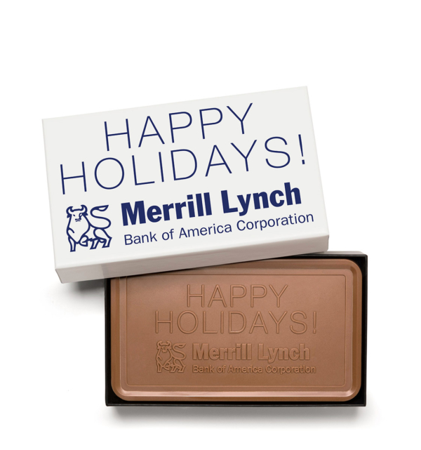Custom deluxe bar engraved belgian chocolate with logo