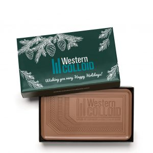 Custom grand bar engraved belgian chocolate with logo