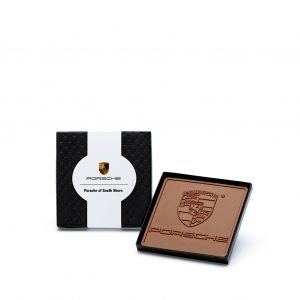 Custom mini 4x4 bar engraved belgian chocolate with logo