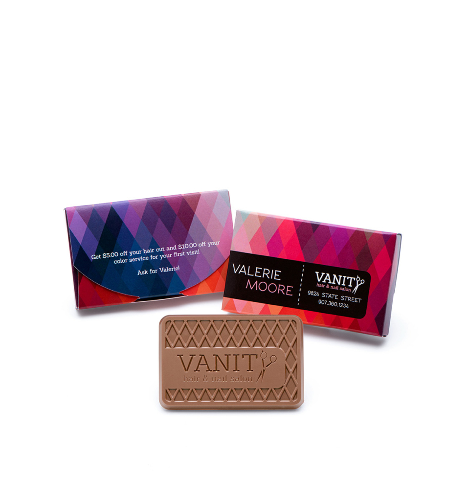 Fully custom chocolate business cards