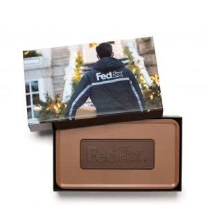 Custom grand combo bar engraved belgian chocolate with logo