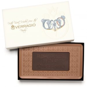 Custom indulgent combo bar engraved belgian chocolate with logo